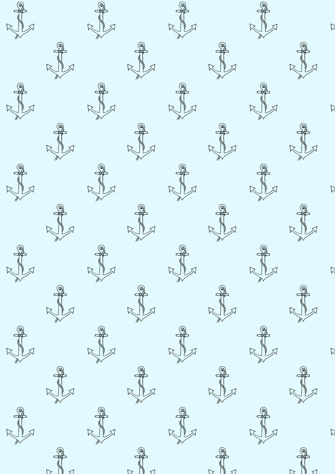 Free Printable Anchor Pattern Paper Nautical