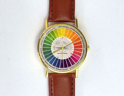 Color Wheel Watch Art Rainbow Color Color Wheel Artists On Tumblr Fachin Watch Jewelry Accessories Under20 Under3 Vintage Colors Womens Watches Unisex Watches