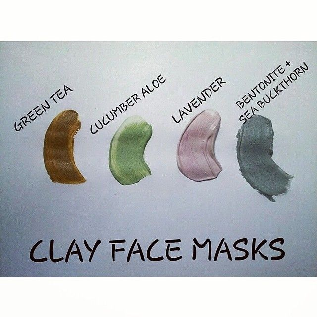 And the #facemask obsession continues! Made these 4 yesterday and will be added by the end of the week to #etsy.  These are #wetclaymasks, they come mixed with water, #botanicalextracts, glycerine, #aloevera and other additives beneficial for the #skin.  They also contain a few drops of fragrance or #essentialoils and a bit of #color because it's #fun and #pretty.  All you have to do is apply a thin layer over your clean face and let it dry for 15-20 min.  #threechangos #greentea #lavender…
