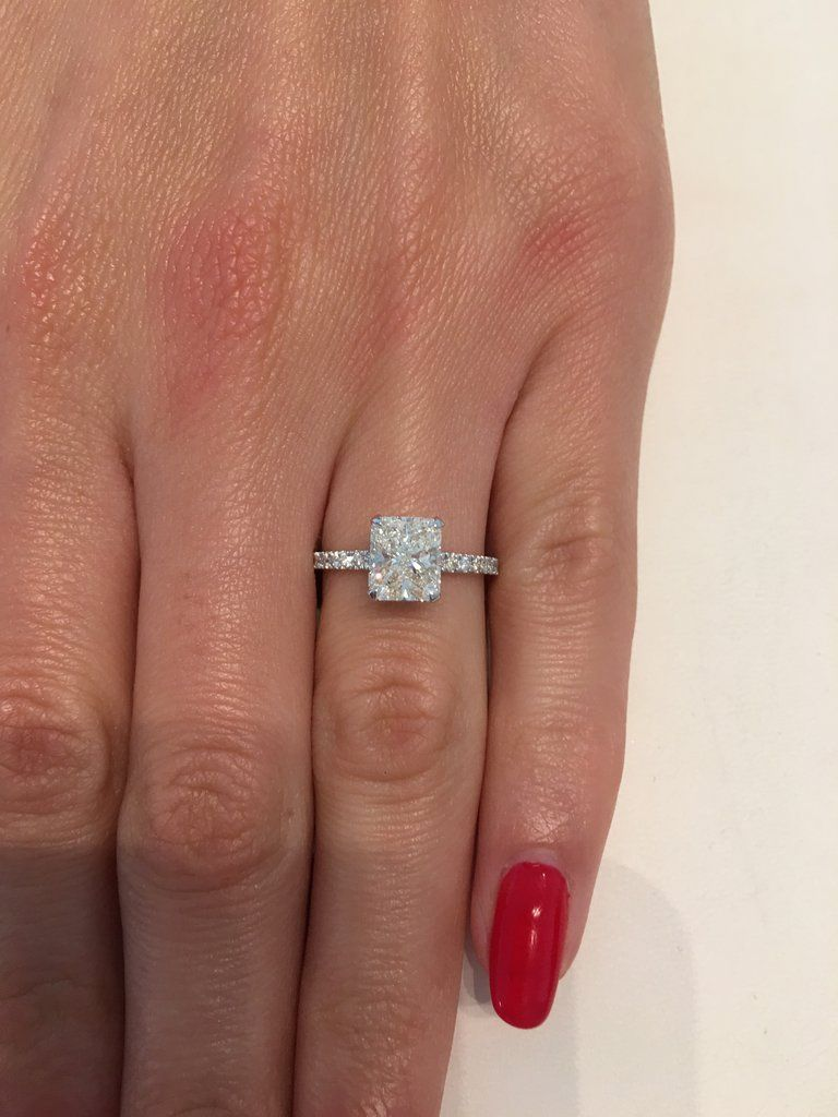 ct radiant cut diamond engagement ring anillo in