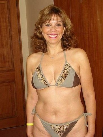 Mature older women thongs