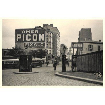 Check out this item at One Kings Lane! Paris Street w/ Advertising, C. 1920