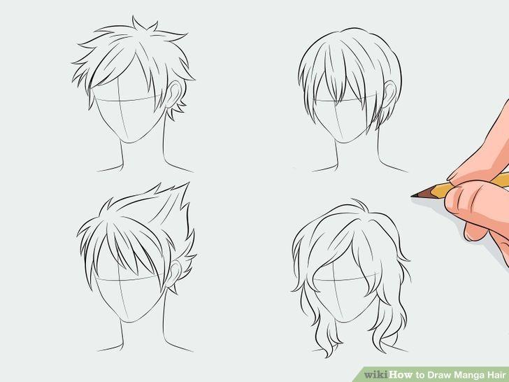 Draw Manga Hair   Manga hair, Anime hair and Drawings
