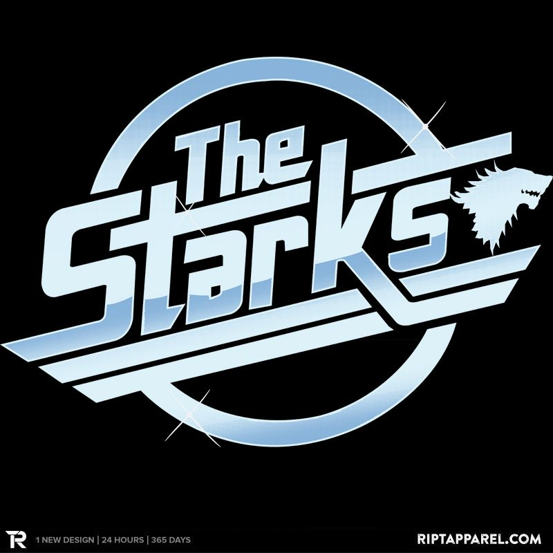 """Get """"The Starks"""" from artist Piercek25 today only, May 18, for $10 at RIPT Apparel. www.riptapparel.com"""