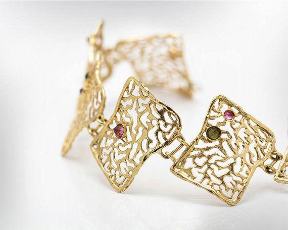 Vintage lace bracelet# One of a Kind# 9k/14k bracelet#nuritdesignjewelry#   Jewelry #Bracelets #Cuff Bracelets# one of a kind #women gift #anniversary gift #motherday gift #wedding jewelry# bridesmaid jewelry #gold lace bracelet# gold bracelet# statement bracelet# lace jewelry#statement jewelry #charm bracelet #vintage jewellry