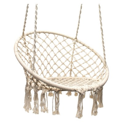 Astounding Hanging Rope Chair Off White Sorbus Beige In 2019 Gmtry Best Dining Table And Chair Ideas Images Gmtryco