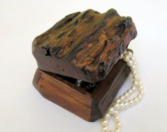 Wooden Box Rustic Wooden Box Driftwood Box Storage Box Jewelry