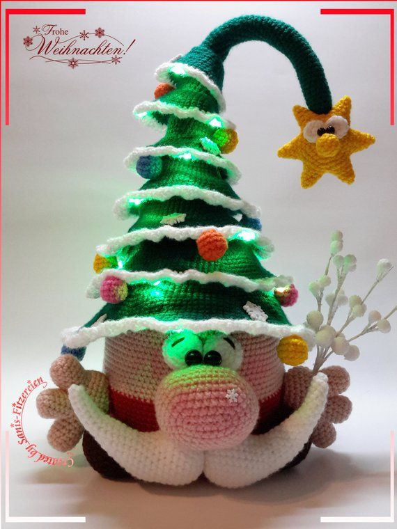 Häkelanleitung Weihnachtsknuffel, Amigurumi #crochetelements