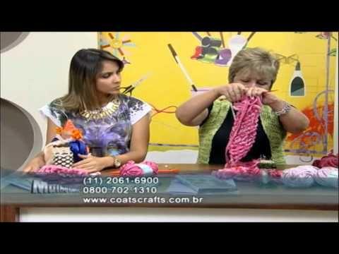 Colar em trança de tricô com Camila + - YouTube