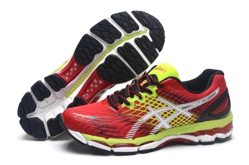 official photos f9dfb 1b5c4 Asics Gel Nimbus 17 Mens Running Shoes Black Volt White Red ...