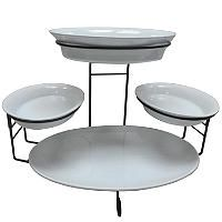 Tiered Buffet Server 5 Piece Set Buffet Server Buffet Buffet Servers