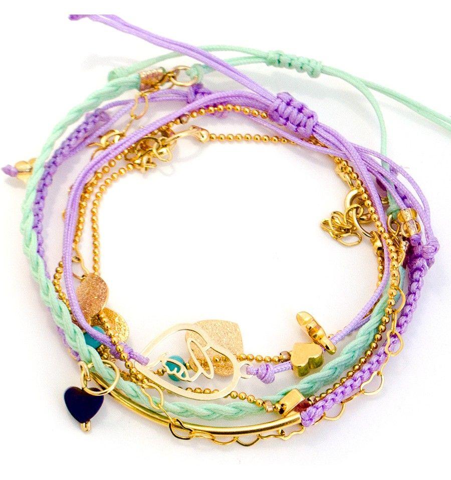 Pulsera Hilos Virgencita Corazones  | TIENDA ONLINE www.dulceencanto.com #pulseras #accesorios #colombia