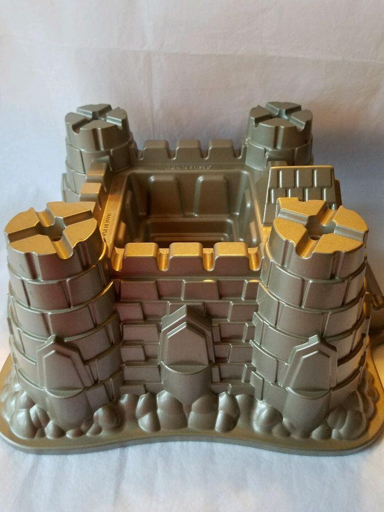 Nordic ware castle bundt cake pan aluminum baking mold