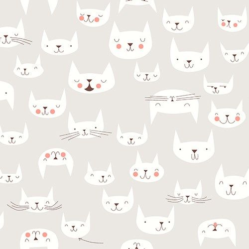 Purrfectly Happy in Cloud | Stash Fabrics