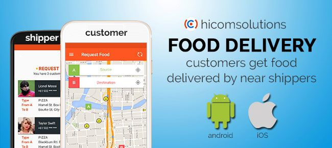 Get attractive Uber food delivery template for android or IOS  Build
