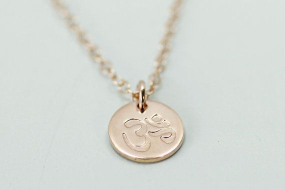 972bfdb2013f2 Rose gold om necklace - om jewelry circle necklace - spiritual ...