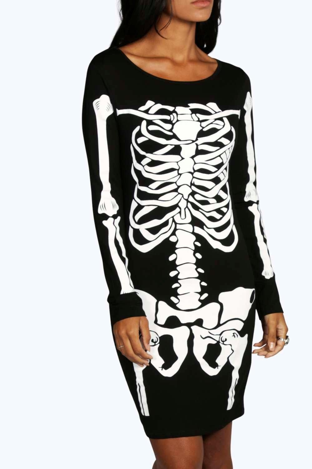 0f5103fc3e9a boohoo.com Going Out Dresses, Dresses For Sale, Day Dresses, Halloween  Skeletons
