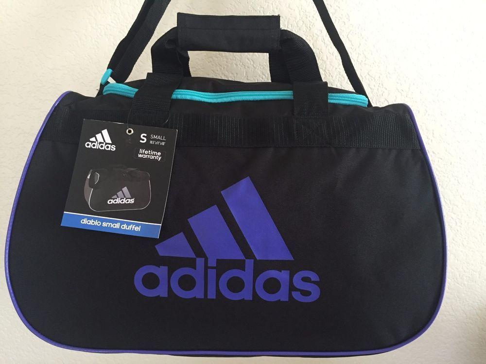 337bd00663 ADIDAS Diablo Small Duffel Women Black Purple Sport Gym bag luggage  Adidas
