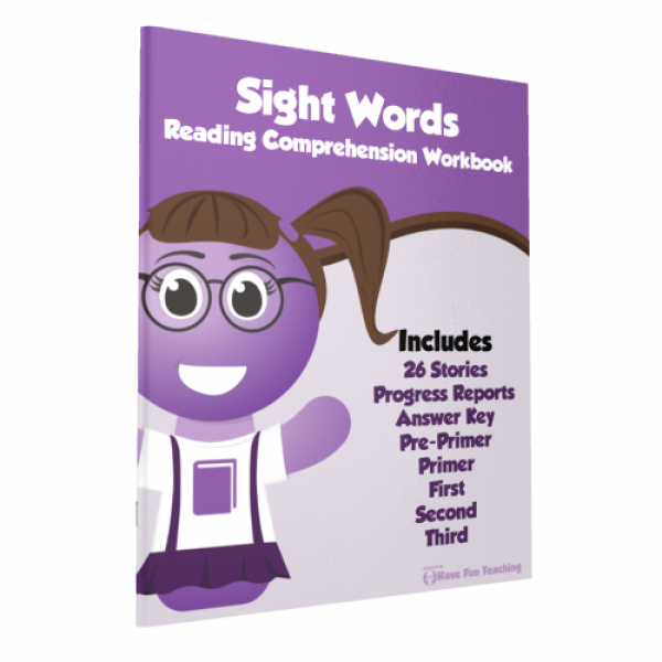 Sight Words Reading Comprehension Workbook Paperback ...