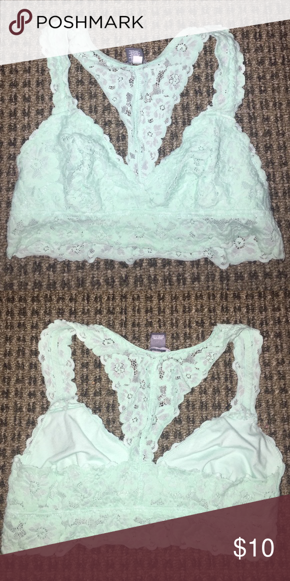 9ed9ae96aa6 Aerie mint green lace bralette Aerie size small mint green lace bralette  like brand new aerie Intimates   Sleepwear Bras