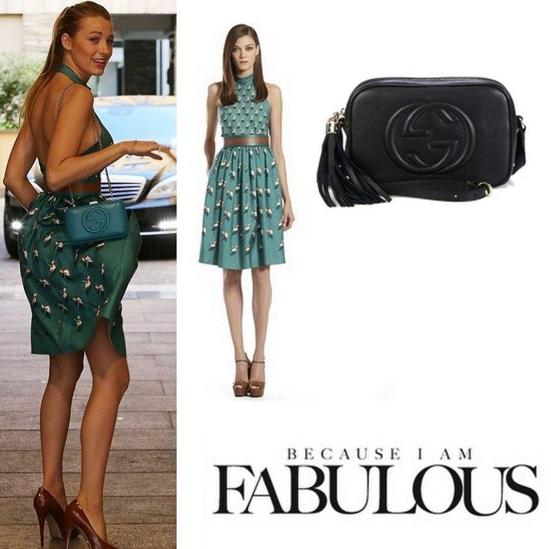 b08383eb023 Shop Celebrity Closet  Blake Lively Gucci Beach Ball Print Silk Halter Dress   amp  Soho