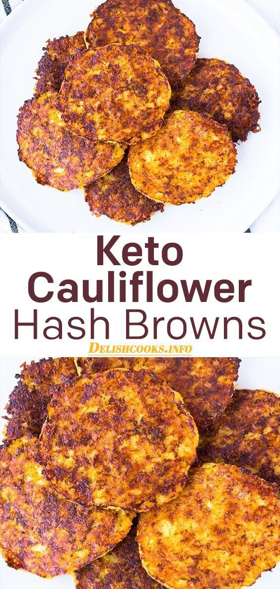 Keto Cauliflower Hash Browns #cauliflower #hashbrown #ketodinner #ketojourney #fitness #ketoliving #...