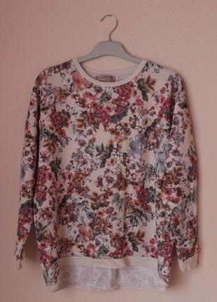 Kup mój przedmiot na #vintedpl http://www.vinted.pl/damska-odziez/bluzy/11264225-bluza-bluzka-w-kwiaty-bershka-asymetryczna