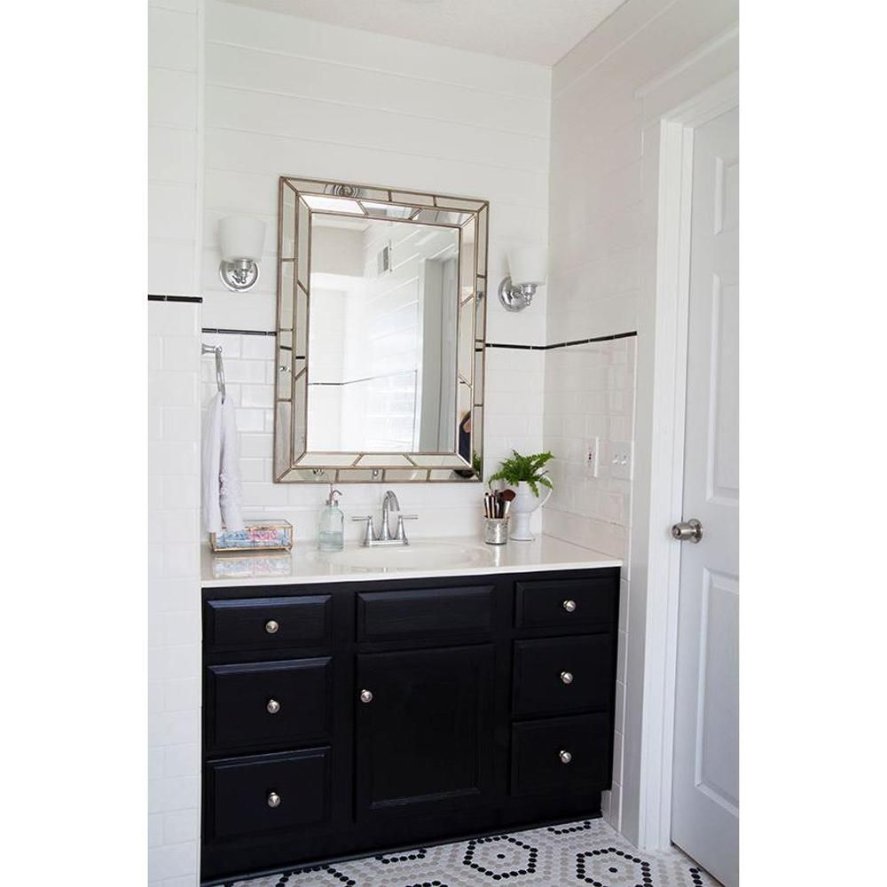 Lens 38 in. x 28 in. Wood Framed Mirror | Frame mirrors, Woods and ...