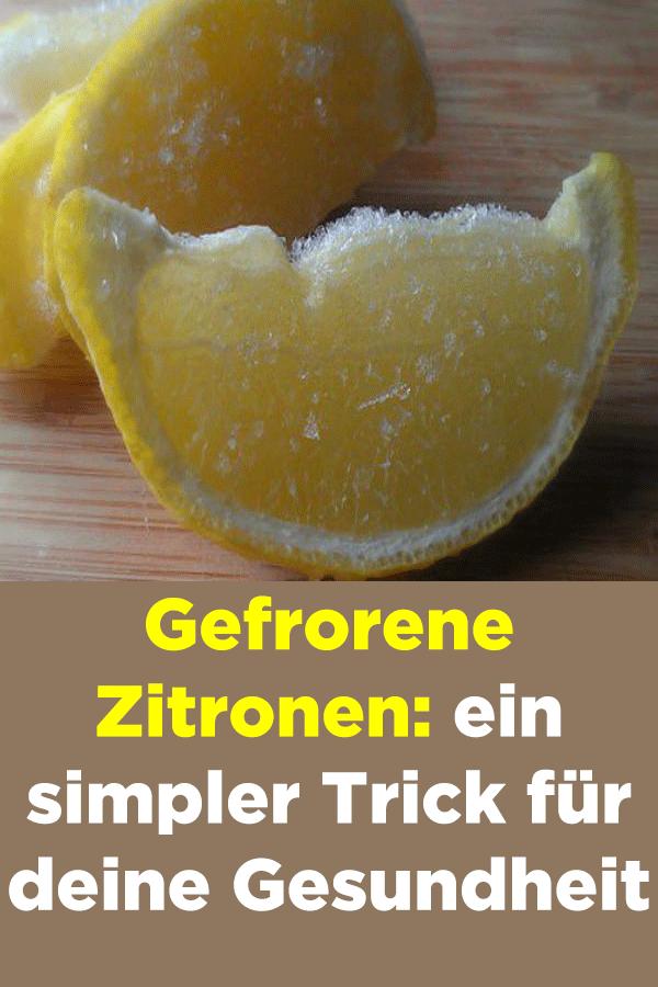 Zitrone zum Abnehmen gefroren