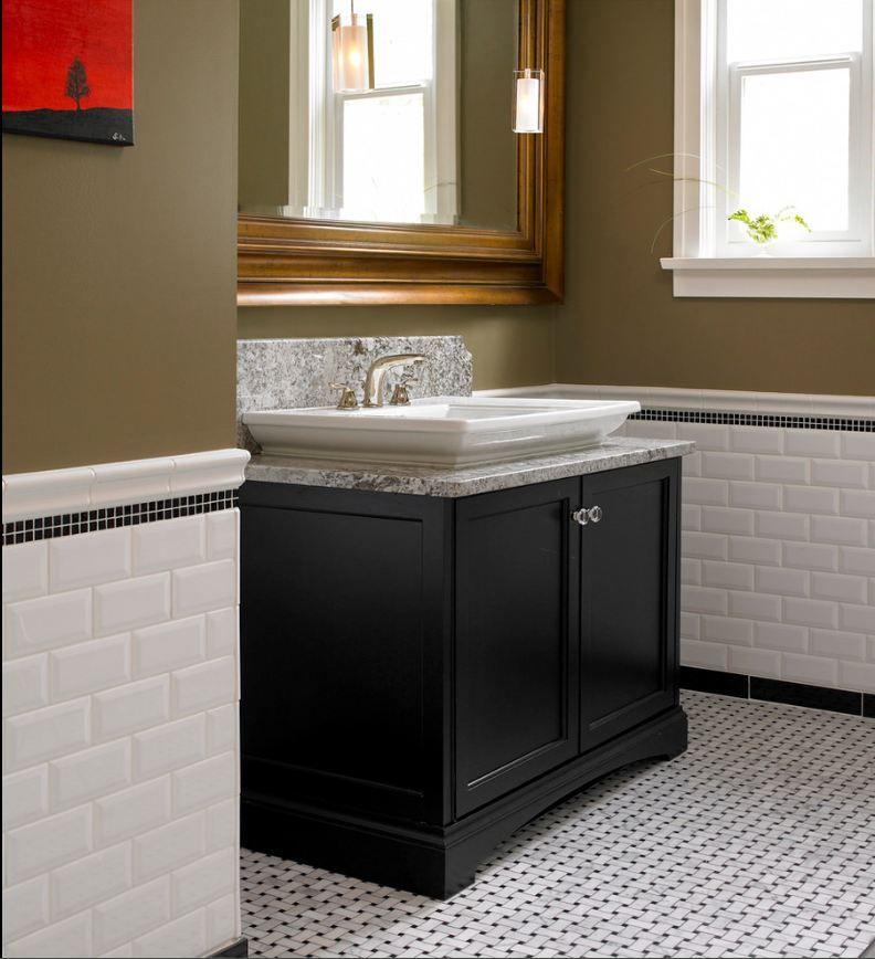 carrara basket weave tile   wainscoting bathroom   beveled white subway  tile with carrara basketweave. carrara basket weave tile   wainscoting bathroom   beveled white