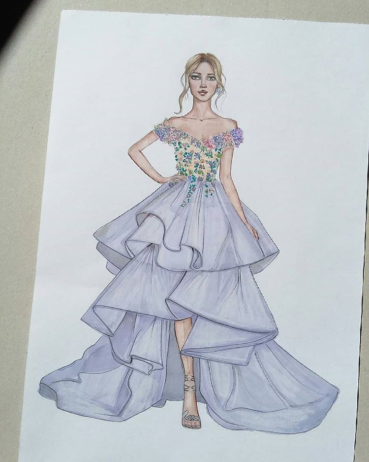 Inspired By Marchesafanfriday Fashion Fashionillustration Fashio Fashion Illustration Sketches Dresses Dress Design Drawing Fashion Illustration