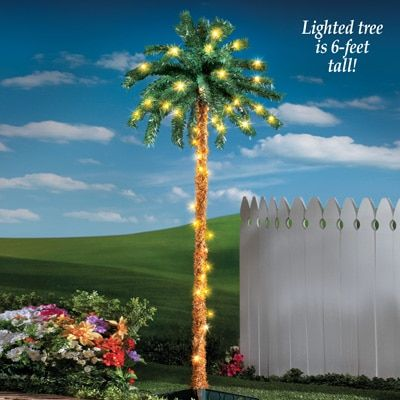 Lighted 6FT Palm Tree