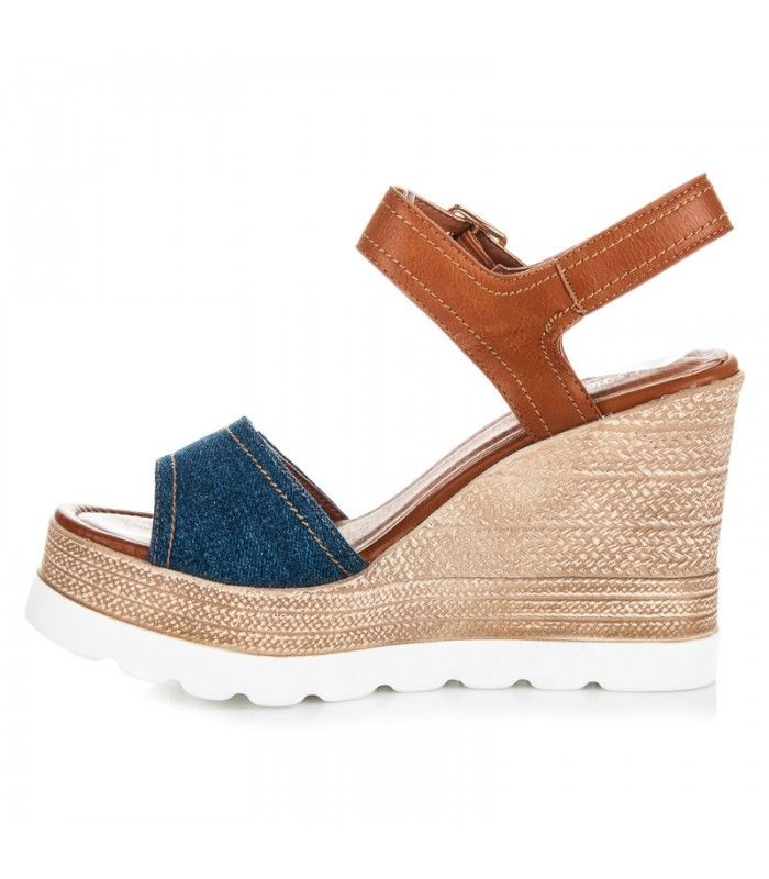 17211cc9fd0ab Vysoké sandále na platforme S-312BL   Dámske sandále   Sandále