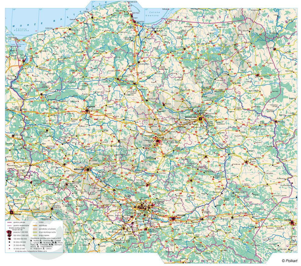 Mapa Mapa Fizyczna Polski Duza Rozdzielczosc In 2020