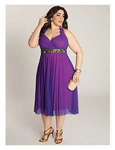 Plus Size Victoria Plisse Dress Novembrino Zepeda