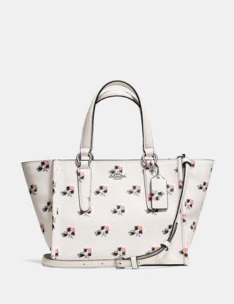 b14a5dbb2073b Coach Crosby Mini Carryall in Floral Printed Crossgrain Leather in ...