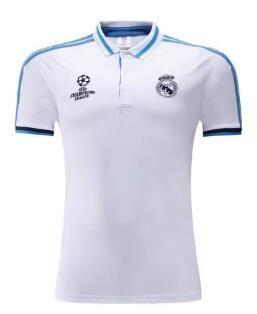 0b22f09f14439 Polo Real Madrid 2017 Blanco Azul Camisetas