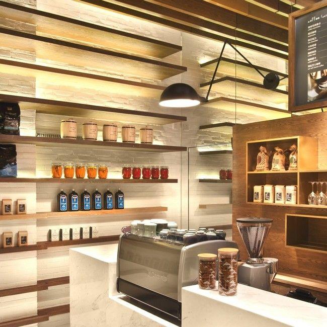 Sensational Coffee Shop Design of the Gaga Deli: Modern Cashier ...