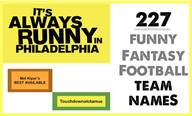 """Funny Fantasy Football Team Names for 2015 From """"Jordy"""