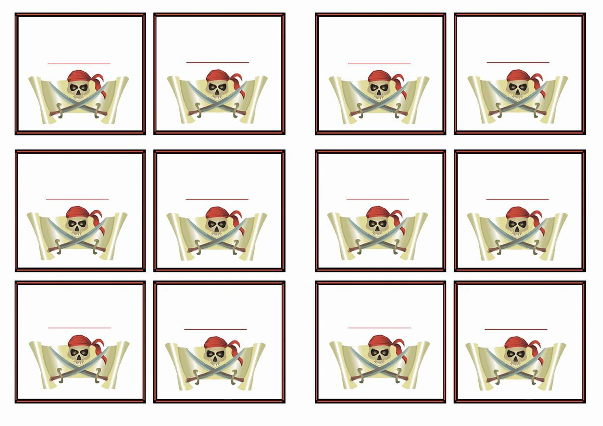 free printable pirate themed name tags themed name tags free
