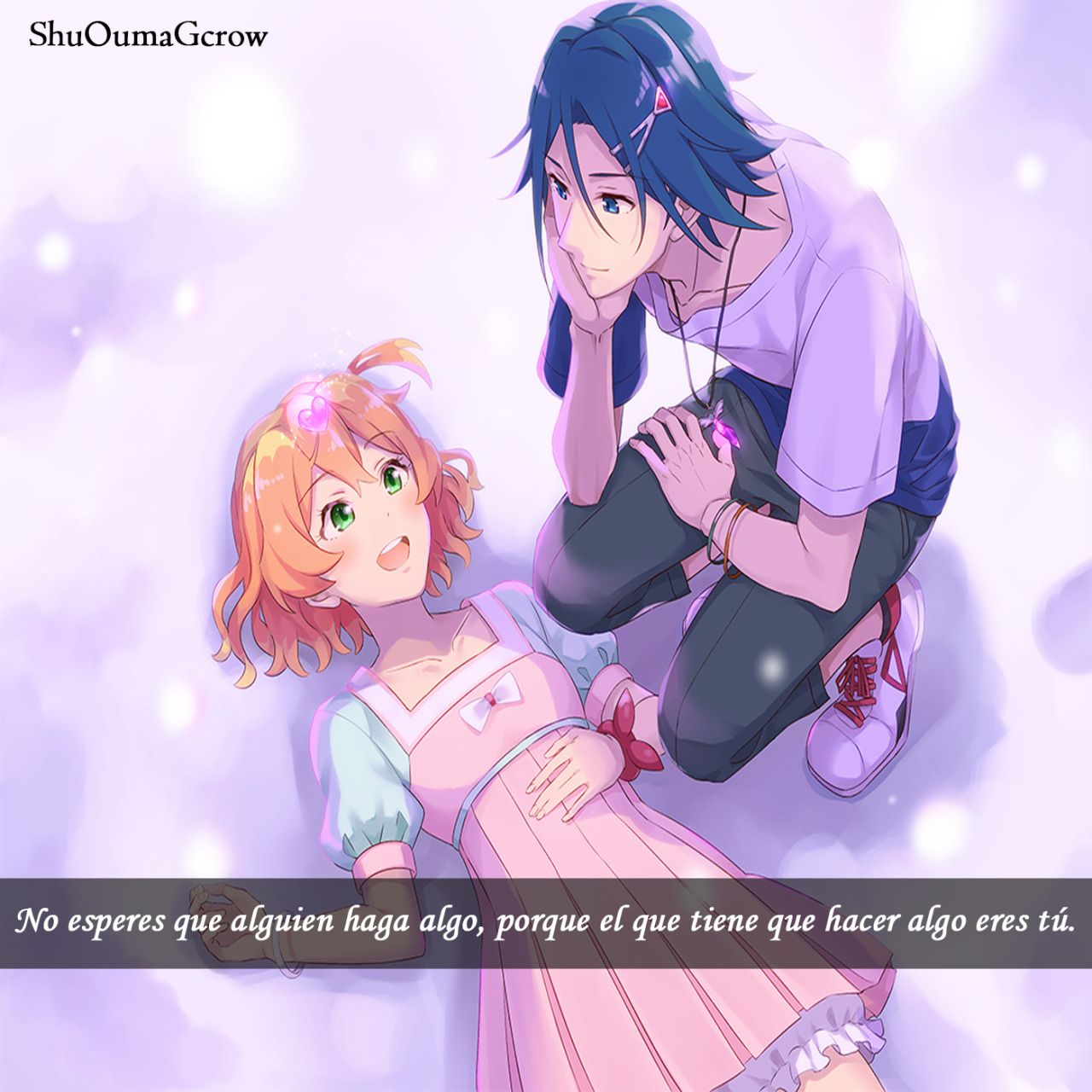 Toma valor y hazlo tu. #Anime #Frases_anime #frases