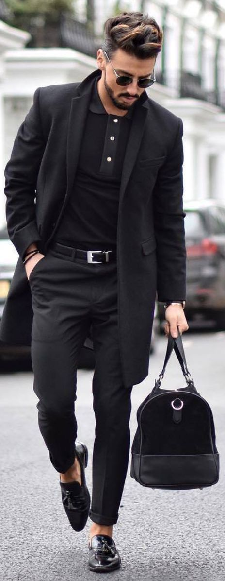 feeling the all black outfits lately  moda masculina