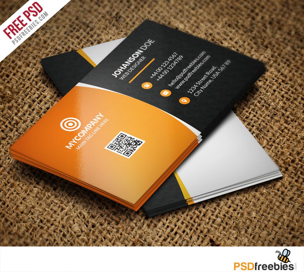 download corporate business card bundle free psd business card