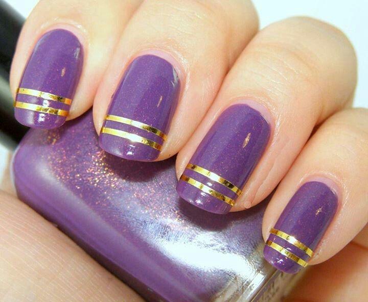 Purple Nail Art Nails Pinterest Purple Nail Art Purple