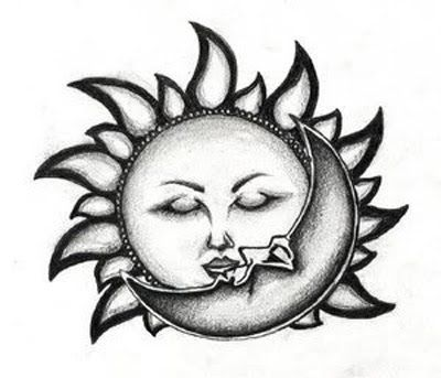 I D Give The Moon More Of A Childlike Face Moon Tattoo Sun Tattoo Designs Moon Tattoo Designs