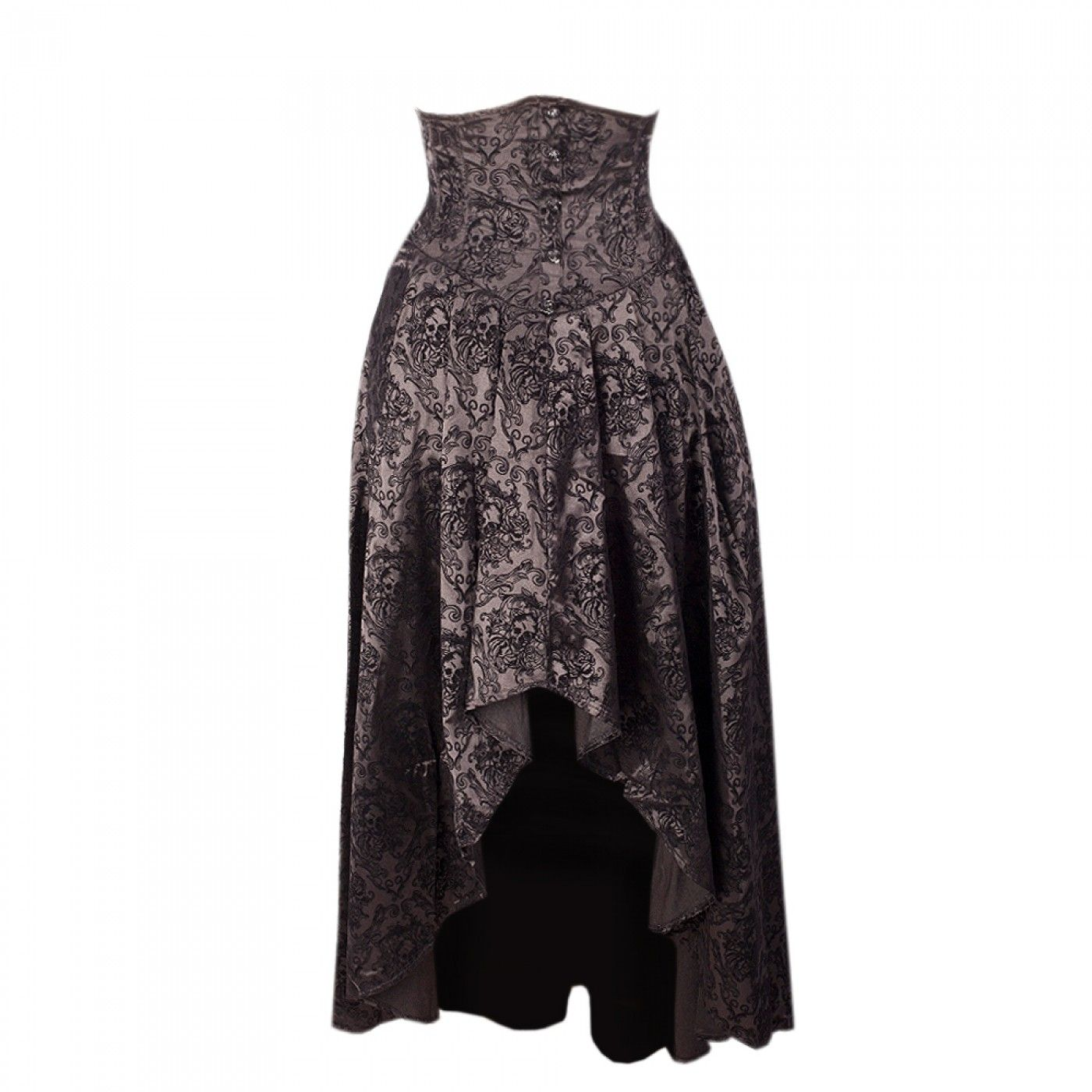 Long Grey Gothic Skirt