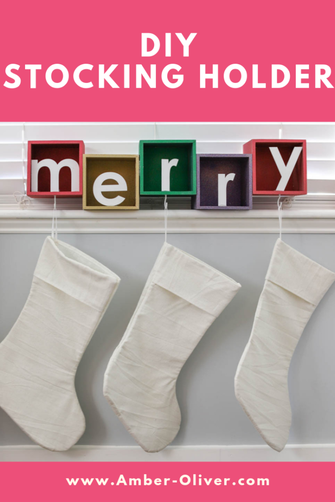 Create a DIY stocking holder with wooden boxes and beautiful, glitter spray paint by Rust-Oleum. This post is sponsored by JOANN! #prideinthemaking