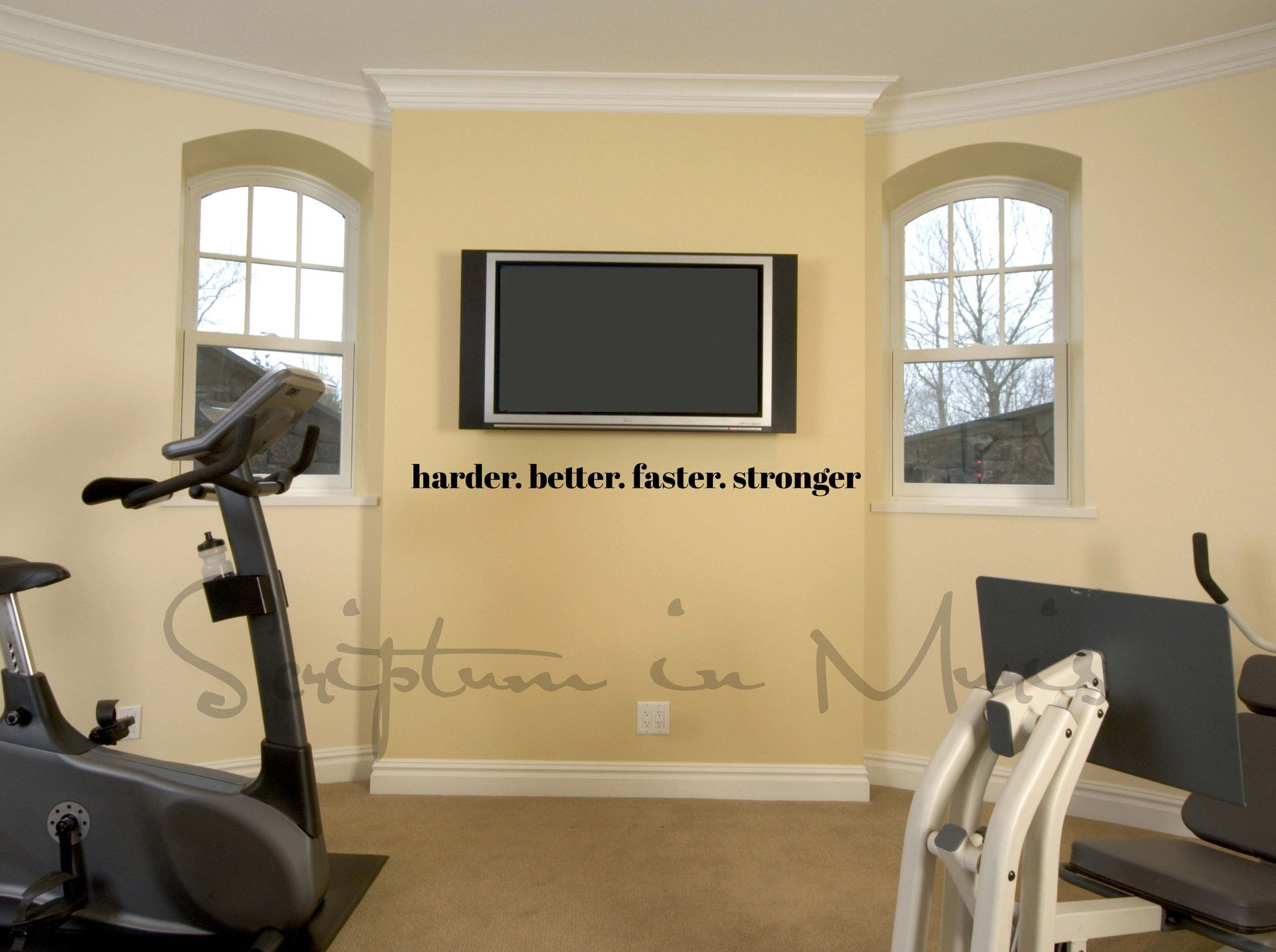 Harder Better Faster Stronger Exercise or Gym Room Vinyl Wall Decal ...