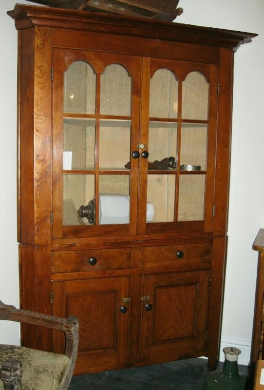 Antique Pine Corner Cupboard From Land