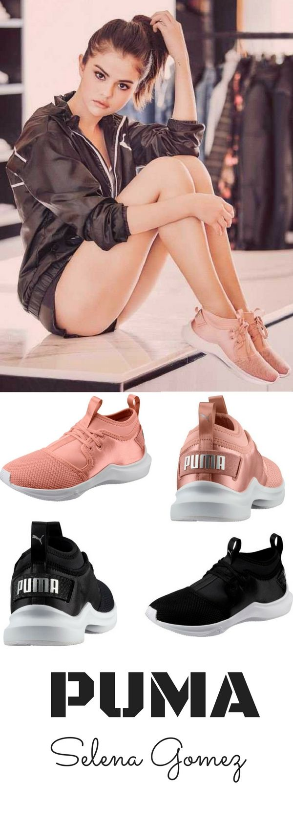 Puma with Selena Gomez  affiliate  puma  selenagomez  shoes  pink  black   trainers  sneakers  love  trending  viral d0fe9cb2a